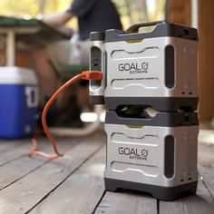 Take power to Earth's most extreme places. Whether at base camp on Everest or in relief efforts in Haiti you can have longer lasting power chaining up to a total of four extreme power packs. That's 1400 watt hours of power. Charge via wall, solar panels or car adapter and use as a primary source of power for lighting, cooling and accessories. 350 watt hours of power pack storage capacity LCD status monitor keeps track of power storage in 20 per cent increments Ergonomic rubberized handle for…