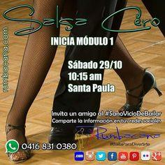 Aprende a bailar #Salsa desde cero. Este sábado 29/10 en Santa Paula. 10:15am Invita un amigo al #SanoVicioDeBailar #Rumbacana #BailaParaDivertirte