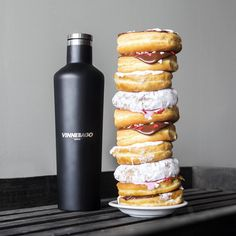When your eyes are bigger than your #Vinnebago.  #Corkcicle #NationalDonutDay #allthedonuts #Donuts