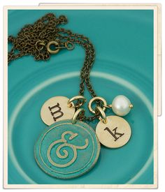 vintage you and me necklace