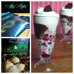 After Eight ice cream sundaes