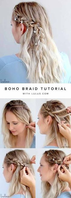 Best Pinterest Hair Tutorials - Boho Braid Tutorial - Check Out These Super Cute And Super Simple Hairstyles From The Best Pinterest Hair Tutorials Including Styles Like Messy Buns And Half Up Half Down Hairdos. Dutch Braids Are Super Hot Right Now Too. These Are The Best Hairstyle Tutorials Ideas On Pinterest Right Now. Easy Hair Up And Hair Down Ideas For Short Hair, Long Hair, and Medium Length Hair. Hair Tutorials For Braids, For Curls, And Step By Step Tutorials For Prom, A Wedding, Or…