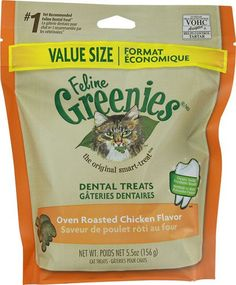Greenies Feline Dental Treats Oven Roasted Chicken -- 5.5 oz(packof2) * More info could be found at the image url.