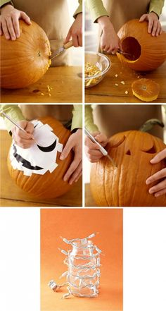 great idea for pumpkin carving/lighting.  although unless you speak Spanish, you…