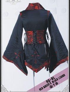 RQ-BL Japanese kimono Jacket Gothic Punk Rock 21054BR