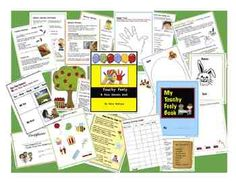 "Touchy Feely: A FIVE SENSES Unit. It's time to explore! Make a UNIQUE Touchy Feely BOOK including a POPSICLE STICK FENCE, a SANDPAPER BEACH and more. Categorize Experiment, have fun with this 42 page ""hands-on"" sensory theme. 3.75"