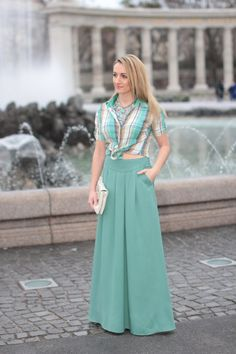 skirt & clutch - / blouse - Vero Moda / shoes - Mango / necklace - H / earrings - Dyrberg Kern Mango Necklace, Boho Fashion, Fashion Trends, Boho Chic, My Style, Boho Style, Spring Summer, Formal Dresses, Blouse