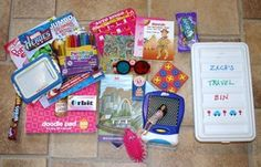 Prepare the kids for long trips in the car with personalized road trip boxes