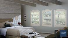 Hunter Douglas NewStyle® Hybrid Shutters | Available at Avalon Flooring | #hunterdouglas #windowtreatments #shutters #windowshutters