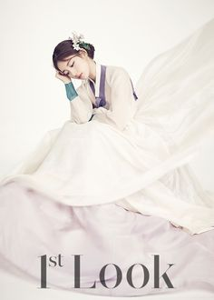 Suzy's ethereal looks in a hanbok for December 2015's 1st Look