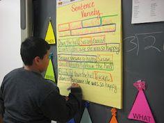 Grade Rocks, Grade Rules: Sentence Variety: H Writing Classes, Teaching Writing, Writing Activities, Writing Ideas, Teaching Ideas, Teaching Grammar, Writing Inspiration, Writing Prompts, Fifth Grade Writing