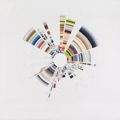 """Richard Garrison, Circular Color Scheme: JCPenny, August 31 – September 8, 2012, Pages 1- 16. """"Your Home For Top Brands & Low Prices. Labor Day and Every Day."""", 2012  Watercolor, gouache and graphite on paper, 25"""" x 25"""""""