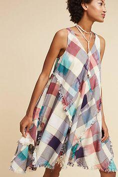 Metallic Plaid Dress