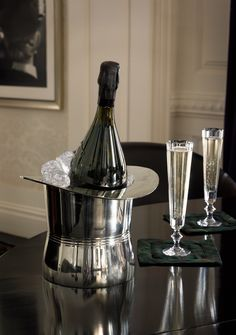 Presenting the Finley Ice Bucket & Celeste Champagne Flutes from Ralph Lauren Home, Apartment No. One