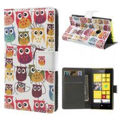 Lumia 520 värikkäät pöllöt lompakkokotelo. Nokia Lumia 520, Google