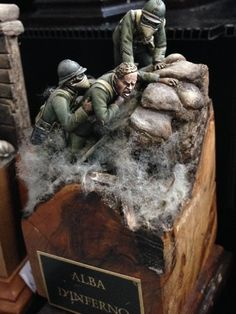 From: Diorama dreams Unknown Modeler Military Diorama, Military Art, Event Logistics, Landscape Model, Military Action Figures, Military Modelling, World War One, Panzer, Toy Soldiers