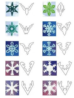 handmade snowflakes designs (How To Make Christmas Garland) Paper Snowflake Designs, Snowflake Template, Snowflake Garland, Paper Snowflakes, Christmas Snowflakes, Christmas Crafts, Snowflake Origami, Christmas Garlands, Simple Snowflake