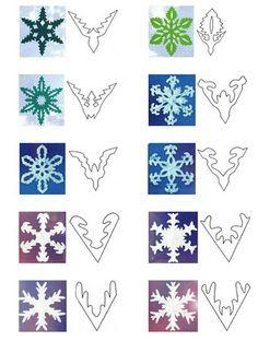 Paper snowflake patterns =)