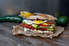 Bacon, Egg and Cheese Sandwich with Garden Vegetables ° eat in my kitchen   Meike Peters