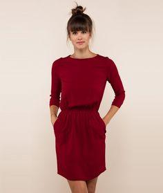 GLÜCKLICH juliane kleid bordeaux - Damenmode und Schuhe unserer eigenen Kollektion , Damenkleidung - Kauf Dich gluecklich