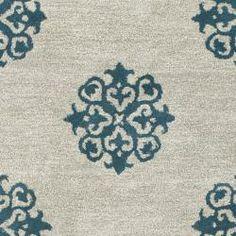 Handmade Medallion Silver New Zealand Wool Rug (9'6 x 13'6)