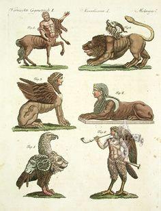 Centaur, Gryphon, Siren, Sphinx, Chimera
