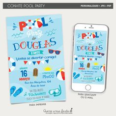 I Party, Ouat, Birthday, Pool Party Birthday, Swimming Pool Parties, 15 Anos, 20th Birthday, Digital Art, Decorated Letters
