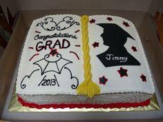 Open Book Graduation cake