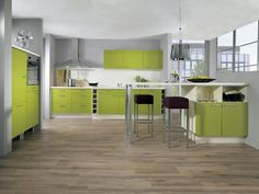 Cucina verde moderna 05