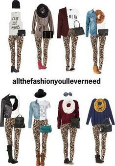 Outfits with cheetah print leggings Outfits mit Leggings mit Gepardenmuster Legging Outfits, Leopard Leggings Outfit, Printed Leggings Outfit, Printed Pants Outfits, Leopard Print Outfits, Leopard Print Leggings, Animal Print Outfits, Cheetah Print, Black Leggings