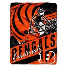 Cincinnati Bengals NFL Micro Raschel Blanket (Deep Slant Series) (46in x 60in)