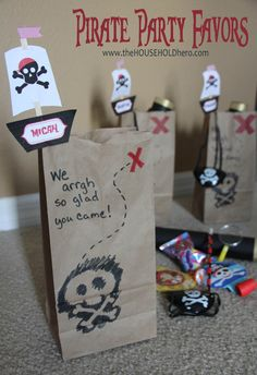 pirate birthday party favor bags The Household Hero
