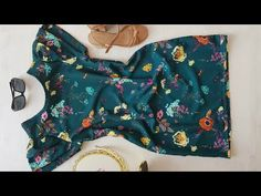 O VESTIDO MAIS FÁCIL DO MUNDO - COSTURA PARA INICIANTES | ELLEN BORGES - YouTube Beautiful Costumes, Handmade Crafts, Dress Making, Off Shoulder Blouse, Floral Tops, Sewing, Youtube, Pattern, How To Make