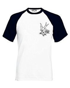 Hobo Jack ~ Black Swallow ~ White   Black 2Tone tee T-shirt (422)   Amazon.co.uk  Clothing 2ff9c35f23344