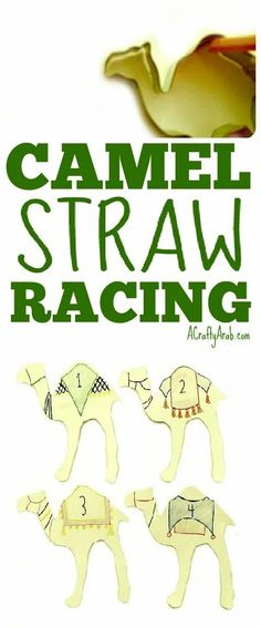 Learn about camel racing and hold your own camel race in your back yard. You can use straws to make your camels move. Church Activities, Montessori Activities, Activities For Kids, School Projects, Projects For Kids, Crafts For Kids, Camel Craft, Ancient Egypt Crafts, Africa Craft