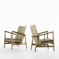 Finn Juhl lounge chairs, pair