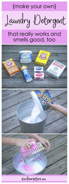This homemade powdered laundry detergent is the best!! It really works and smells sooo good.