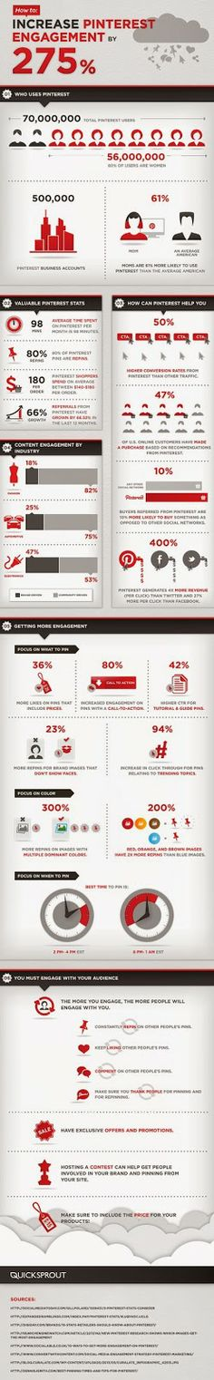 Digital Planner, Digital Marketing / Venturini: Aumentare l'engagement su Pinterest? Ecco come - Infografica