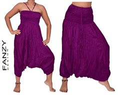 Harem pants in popular single-colored, SOLID-04