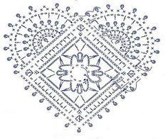 Solo esquemas y diseños de crochet: Corazones