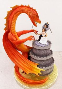 Dragon wedding cake - a sample from my cake board over 2k pins - here is the link https://www.pinterest.com/cajunf/cake-amazing-yummy-pieces-of-art-but-delicous/