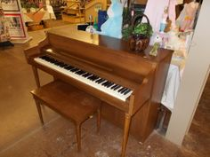 This Whitmore piano is in excellent condition. A smaller piano, @ 57.75 inches wide and 37 inches tall, it will fit comfortably in spaces that many similar pianos will not. This piano is a true value at $ 275.00. Come see it!