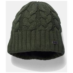 UA Around Town Beanie ($21) ❤ liked on Polyvore featuring accessories, hats, beanie cap, beanie hat and beanie cap hat