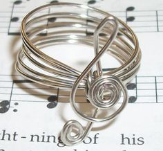 STERLING SILVER Treble Clef Music Ring by wirewrap on Etsy, $22.00 so cute!