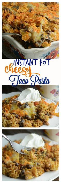 Share with friends Instant Pot Cheesy Taco Pasta *** Warning**** This dish is highly addicting and not on any diet plan. Tonight I was in the mood for tacos why