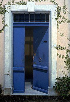 Residential Mural by John Pugh _ Blue Door.  Wow!  Trompe l'oeil beautifully done!