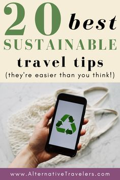 These are the 20 BEST sustainable travel tips! If you want to be a more ethical traveler, check out this post for ways to be more conscious of your impact before, during, and after your trip. We share how to choose the most eco-friendly transportation, the best ethical and vegan travel gear, what we consider the most sustainable accommodation, and more! Ethical Travel Tips | Sustainable Tourism | Environmentally Friendly Travel Tips | Sustainable Travel Products | Eco Travel… Sustainable Tourism, Sustainable Living, Responsible Travel, Travel Light, Culture Travel, Trip Planning, Travel Products, Family Travel, Sustainability