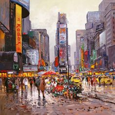 Henderson Cisz Flower Stall Manhattan – Signed Limited Edition Art Print by Henderson Cisz – Competitive Framing – Free UK Courier Delivery Umbrella Art, Cityscape Art, Most Beautiful Cities, London City, Art Pictures, Framed Art, Wall Art, Original Paintings, Art Gallery