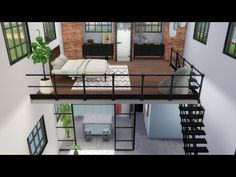 Modern House Design 563442603379002437 - The Sims 4 – Industrial Loft Sims 2 House, Sims 4 House Plans, Sims 4 House Building, Sims 4 House Design, Loft House, Home Design, Sims 4 Modern House, Building Games, Casas The Sims Freeplay