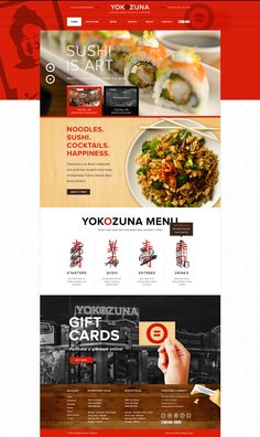 Creative Web, Yokozuna, Website, Layout, and Design image ideas & inspiration on Designspiration Food Web Design, News Web Design, Sushi Design, App Design, Design Color, Flyer Design, Design Ideas, Website Design Layout, Web Layout